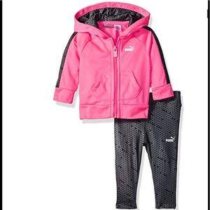 Puma Shirts & Tops - Baby Girls' PUMA Track Jacket and Legging Set